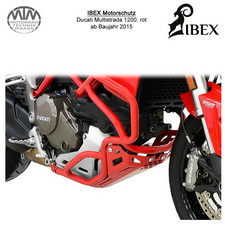 IBEX Motorschutz rot Ducati Multistrada 1200 15-
