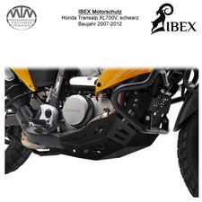 IBEX Motorschutz Honda Transalp XL700V 07-12 Schwarz