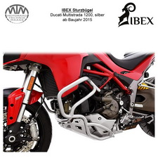 IBEX Sturzbügel Ducati Multistrada 1200 (15-) silber