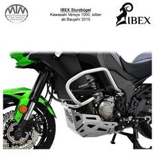 IBEX Sturzbügel Kawasaki Versys 1000 15- silber