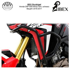 IBEX Sturzbügel Verkleidung Honda CRF 1000 Africa Twin 16-17 schwarz