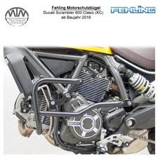 Fehling Motorschutzbügel für Ducati Scrambler 800 Classic (KC) 2016- in schwarz