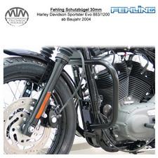 Fehling Schutzbügel 30mm für Harley Davidson Sportster Evo 883/1200 2004- in sch