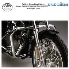 Fehling Schutzbügel 38mm für Harley Davidson Sporster Evo 883/1200 2004-