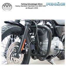 Fehling Schutzbügel 38mm für Harley Davidson Sporster Evo 883/1200 2004- in schw
