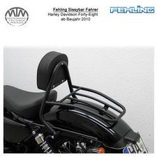 Fehling Sissybar Fahrer für Harley Davidson Forty-Eight 2010- in schwarz
