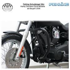 Fehling Schutzbügel 38mm eckige Form für Harley Davidson Dyna Modelle 2006- in s