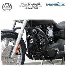 Fehling Schutzbügel 38mm runde Form für Harley Davidson Dyna Modelle 2006- in sc