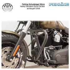 Fehling Schutzbügel 38mm konische Form für Harley Davidson Dyna Fat Bob 2008- in