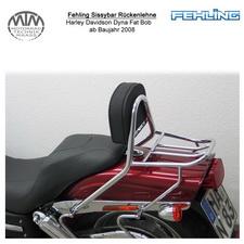 Fehling Sissybar Rückenlehne für Harley Davidson Dyna Fat Bob 2008-