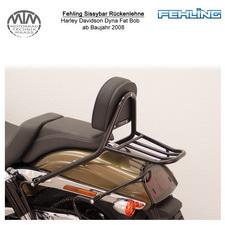Fehling Sissybar Rückenlehne für Harley Davidson Dyna Fat Bob 2008- in schwarz