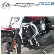 Fehling Schutzbügel 38mm für Harley Davidson Dyna Wide Glide (FXDWG) 2010-