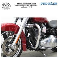 Fehling Schutzbügel 38mm eckige Form für Harley Davidson Dyna Switchback 2010-