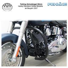 Fehling Schutzbügel 38mm eckige Form für Harley Davidson Softail Modelle 2007- s