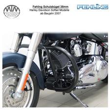 Fehling Schutzbügel 38mm runde Form für Harley Davidson Softail Modelle 2007- sc