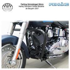 Fehling Schutzbügel 38mm konische Form für Harley Davidson Softail Modelle 2007-