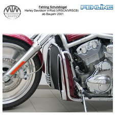 Fehling Schutzbügel für Harley Davidson V-Rod (VRSCA/VRSCB/VRSCD) 2001-