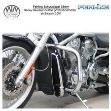 Fehling Schutzbügel 38mm für Harley Davidson V-Rod (VRSCA/VRSCB/VRSCD) 2001-