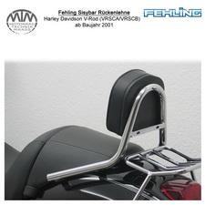 Fehling Sissybar Rückenlehne für Harley Davidson V-Rod (VRSCA/VRSCB/VRCSD) 2001-