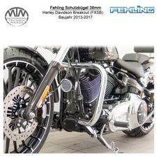 Fehling Schutzbügel 38mm für Harley Davidson Breakout (FXSB) 2013-2017