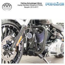 Fehling Schutzbügel 38mm für Harley Davidson Breakout (FXSB) 13-17 in schwarz