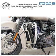 Fehling Schutzbügel 38mm für Harley Davidson Heritage Softail Classic (FLHC) 18-