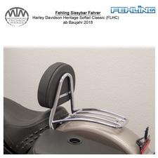 Fehling Sissybar Fahrer für Harley Davidson Heritage Softail Classic (FLHC) 18-