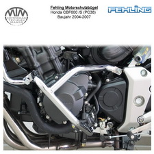 Fehling Motorschutzbügel für Honda CBF600 /S (PC38) 2004-2007 in schwarz