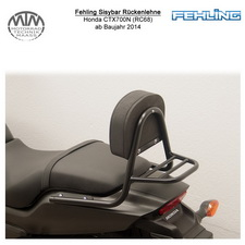 Fehling Sissybar Rückenlehne für Honda CTX700N (RC68) 2014 in schwarz