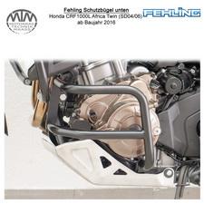 Fehling Schutzbügel unten für Honda CRF1000L Africa Twin (SD04/06) 16- in schwar