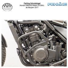 Fehling Schutzbügel für Honda CMX500 Rebel (PC56A) in schwarz