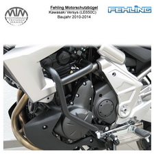 Fehling Motorschutzbügel für Kawasaki Versys (LE650C) 2010-2014 in schwarz