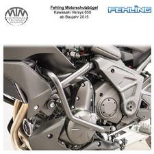 Fehling Motorschutzbügel für Kawasaki Versys 650 2015- in schwarz