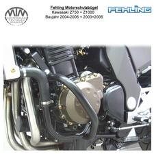 Fehling Motorschutzbügel für Kawasaki Z750 04-06 + Z1000 03-06 in schwarz