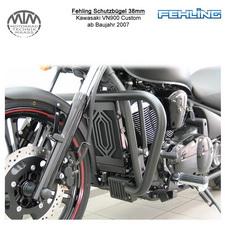 Fehling Schutzbügel 38mm für Kawasaki VN900 Custom 2007- in schwarz