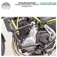 Fehling Motorschutzbügel für Kawasaki Z650 (ER650) + Ninja 650 (EX650) 17- in sc