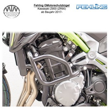 Fehling Motorschutzbügel für Kawasaki Z900 (ZR90) 2017- in schwarz