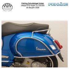Fehling Schutzbügel hinten für Vespa GTS Super i.e 125 09-13 + GTS Super i.e 300 08-