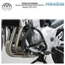 Fehling Motorschutzbügel für Suzuki GSF650 Bandit (WVCJ/WVCZ) 2007-2012 in schwa