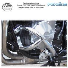 Fehling Motorschutzbügel für Suzuki GSX1200 99-00 + GSF1200 Bandit 96-06