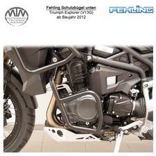 Fehling Schutzbügel unten für Triumph Explorer (V13G) 2012- in schwarz