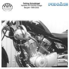 Fehling Schutzbügel 2tlg. Für Yamaha XV125/250 Virago 1989-2002