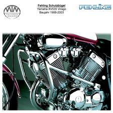 Fehling Schutzbügel 2 teilig Für Yamaha XV535 Virago 1988-2003