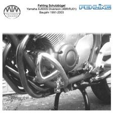 Fehling Motorschutzbügel für Yamaha XJ600S Diversion (4BR/RJ01) 1991-2003