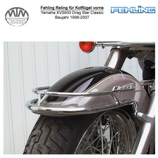 Fehling Reling für Kotflügel vorne für Yamaha XVS650 Drag Star Classic 1998-2007