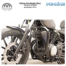 Fehling Schutzbügel 38mm für Yamaha XV950R 2014- in schwarz