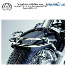 Fehling Reling für Kotflügel vorne für Yamaha XVS1100 Drag Star Classic (VP16)