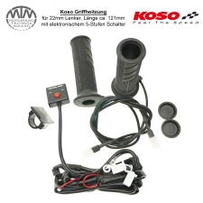 KOSO Heizgriffe für 22mm Lenker mit 5-Stufen Schalter