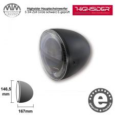 Highsider LED Hauptscheinwerfer 5 3/4 Zoll Circle schwarz