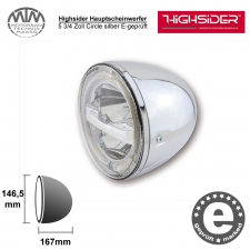 Highsider LED Hauptscheinwerfer 5 3/4 Zoll Circle silber
